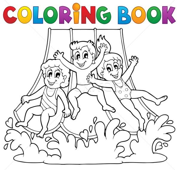 塗り絵の本 アクアパーク 笑顔 子供 図書 塗料 ストックフォト © clairev
