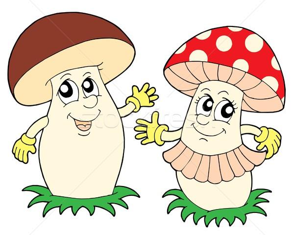 Cogumelo cogumelo venenoso mãos mão cara outono Foto stock © clairev