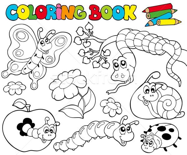Boyama Kitabi Kucuk Hayvanlar Kelebek Doga Sanat