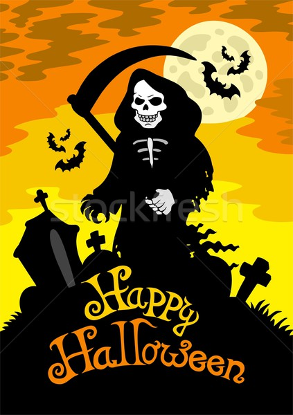 Halloween theme with grim reaper Stock photo © clairev