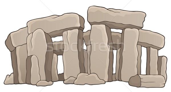 Anciens pierre Rock architecture dessin histoire Photo stock © clairev