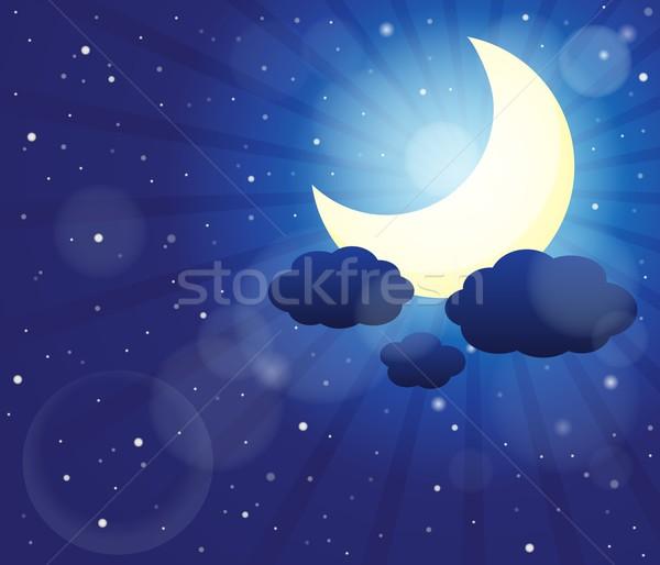 夜空 画像 空 抽象的な 自然 月 ストックフォト © clairev