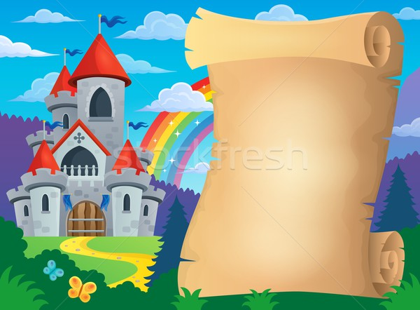 Parchment and fairy tale castle Stock photo © clairev