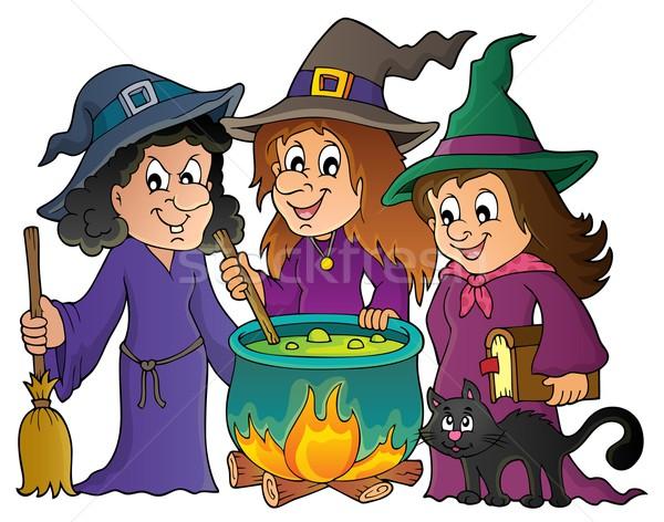 Three witches theme image 1 Stock photo © clairev