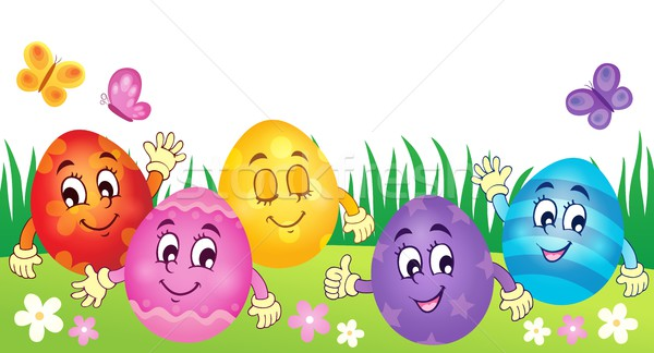 Happy Easter eggs theme image 3 Stock photo © clairev