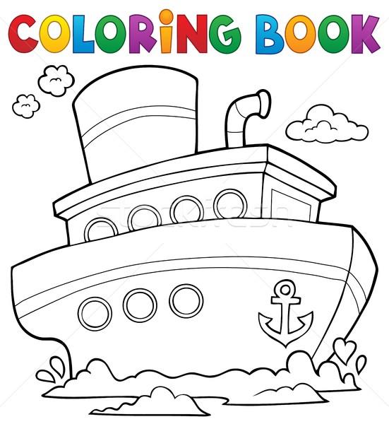 Kolorowanka morski statku wody książki morza Zdjęcia stock © clairev