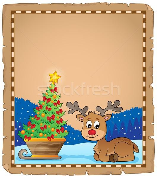 クリスマス 鹿 トピック 羊皮紙 紙 ツリー ストックフォト © clairev