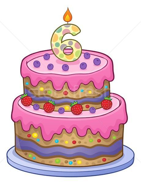Doğum günü pastası görüntü yıl eski dizayn doğum günü Stok fotoğraf © clairev