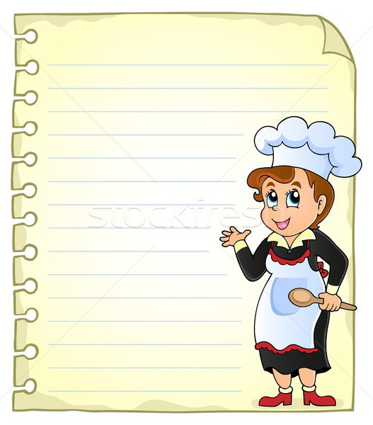 Notepad page with chef theme 3 Stock photo © clairev