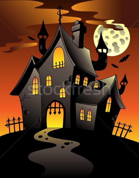 Escena halloween mansión casa edificio arte Foto stock © clairev