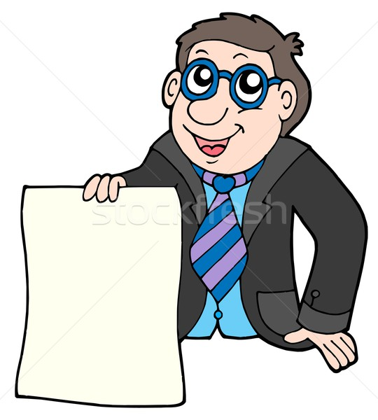 Businessman with contract Stock photo © clairev