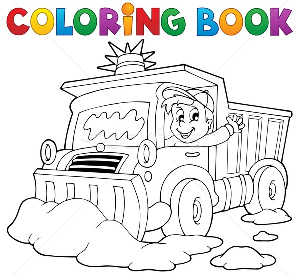Coloring book snow plough Stock photo © clairev