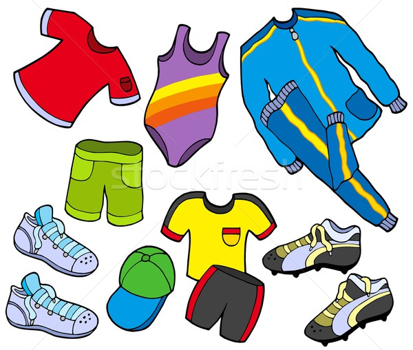 Stock photo: Sport clothes collection
