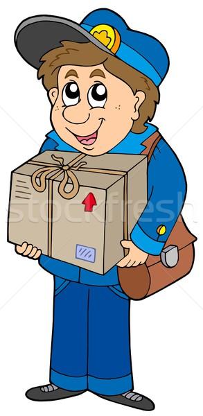 почтальон окна работу искусства синий почты Сток-фото © clairev