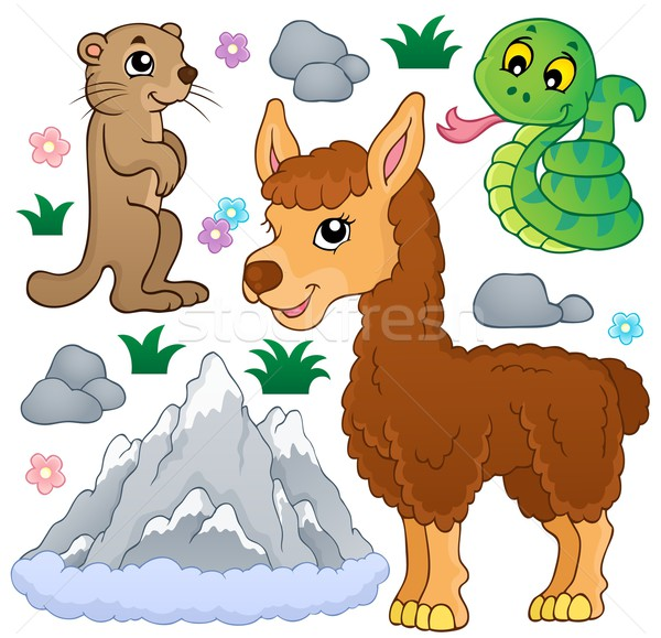 Mountain animals theme collection 1 Stock photo © clairev
