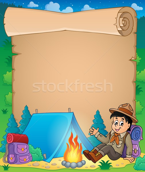 Parchment with scout boy theme 1 Stock photo © clairev