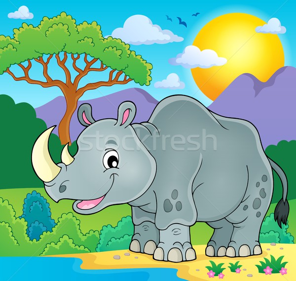 Rhino theme image 2 Stock photo © clairev