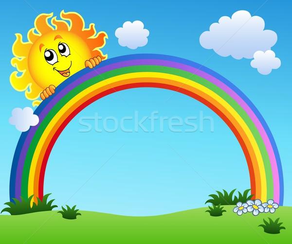 商业照片: 太阳 · 彩虹 · 蓝天 · 春天 · 抽象