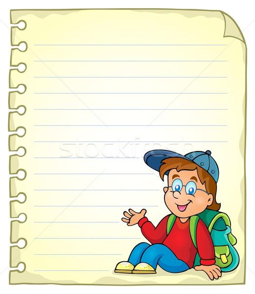 Notebook pagina scolaro carta sorriso scuola Foto d'archivio © clairev