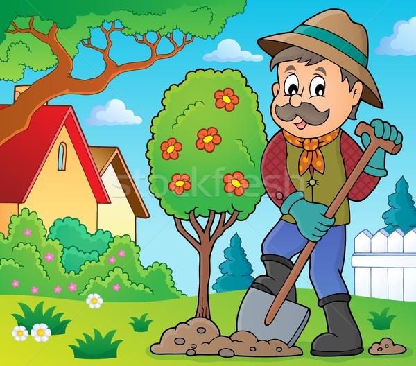 Gardener planting tree theme image 2 Stock photo © clairev
