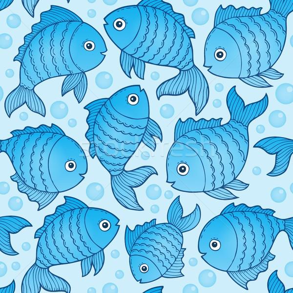 Fara sudura peşte desene fundal animale model Imagine de stoc © clairev