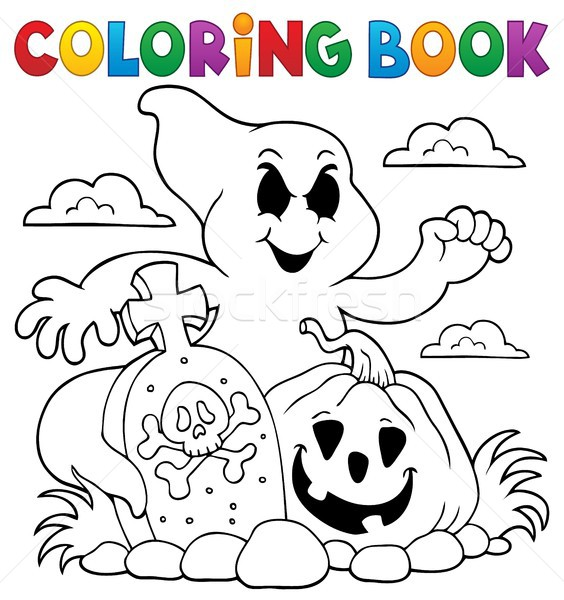 Coloring book ghost subject Stock photo © clairev