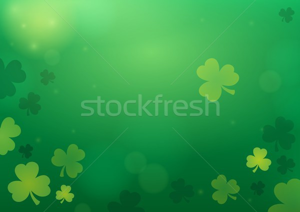 Three leaf clover abstract background 2 Stock photo © clairev