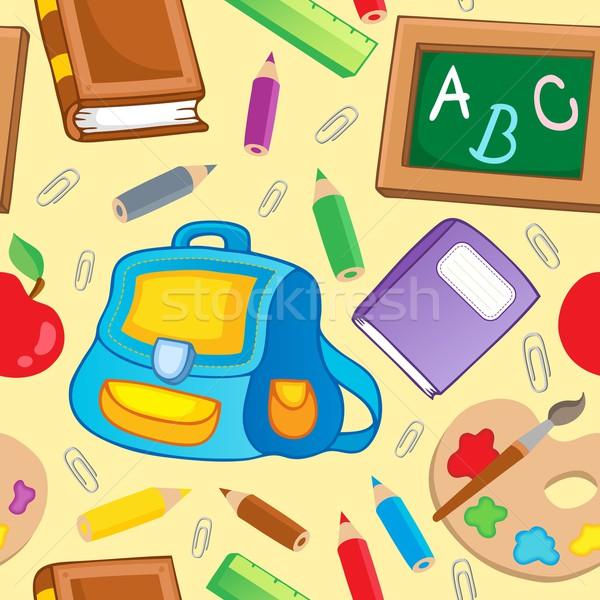 School theme seamless background 1 Stock photo © clairev