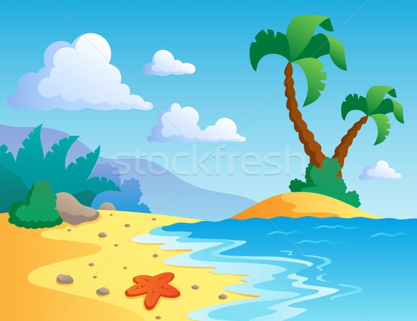Beach theme scenery 1 Stock photo © clairev
