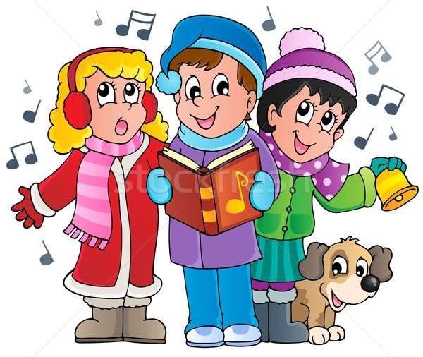 Christmas carol singers theme 1 Stock photo © clairev