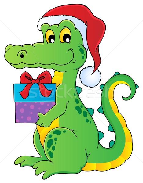 Рождества крокодила изображение дизайна искусства окна Сток-фото © clairev