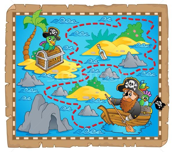 宝の地図 画像 紙 芸術 手のひら 海 ストックフォト © clairev