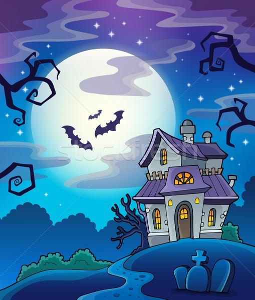 Haunted house theme background Stock photo © clairev
