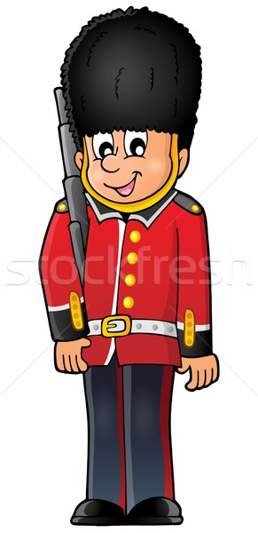 Happy Beefeater guard Stock photo © clairev