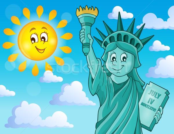 Statue of Liberty theme image 2 Stock photo © clairev
