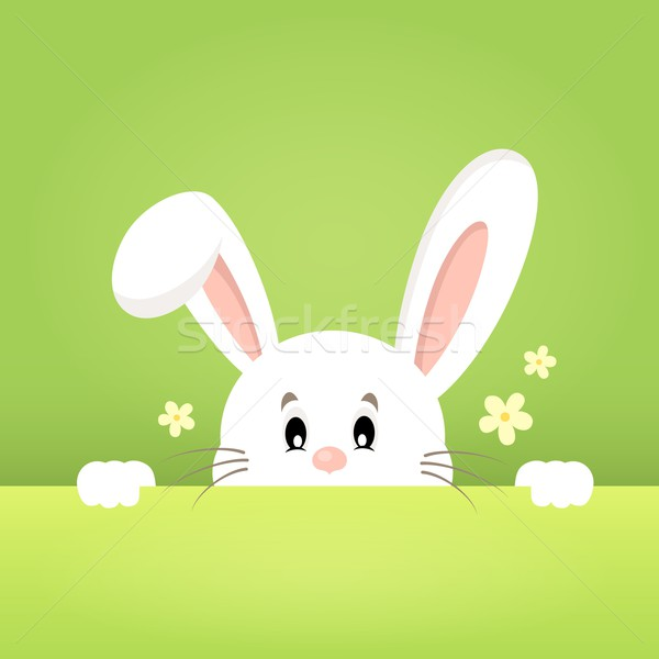 Image with lurking Easter bunny theme 1 Stock photo © clairev