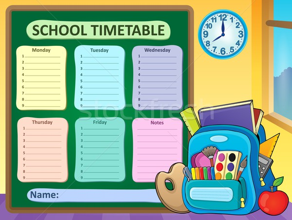 Weekly school timetable composition 6 Stock photo © clairev