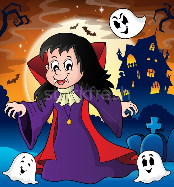 Vampire girl theme image 3 Stock photo © clairev