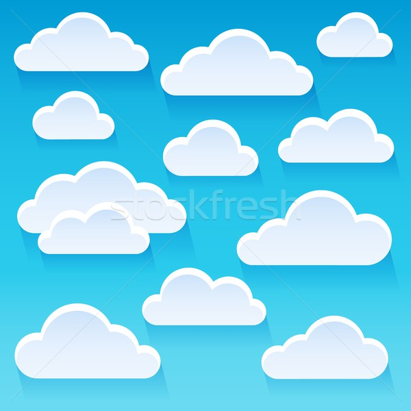 Stylized clouds theme image 1 Stock photo © clairev