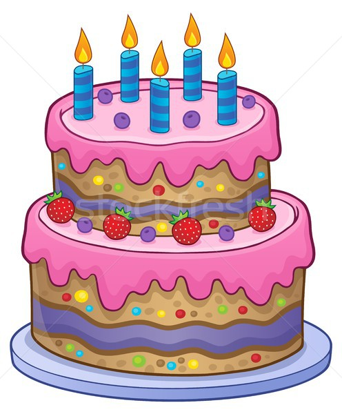 Birthday cake with 5 candles Stock photo © clairev