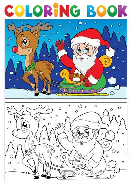 Boyama Kitabi Noel Baba Konu Kitap Dizayn Boya