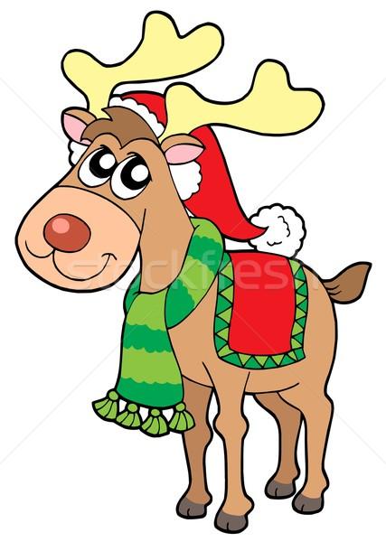 Noel Kış Renk Elbise Hayvan çizim Vektör Ilüstrasyonu