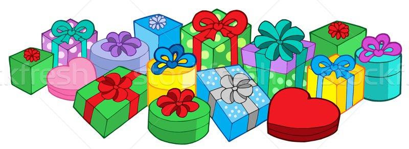 Geschenken verjaardag aanwezig lint christmas roze Stockfoto © clairev