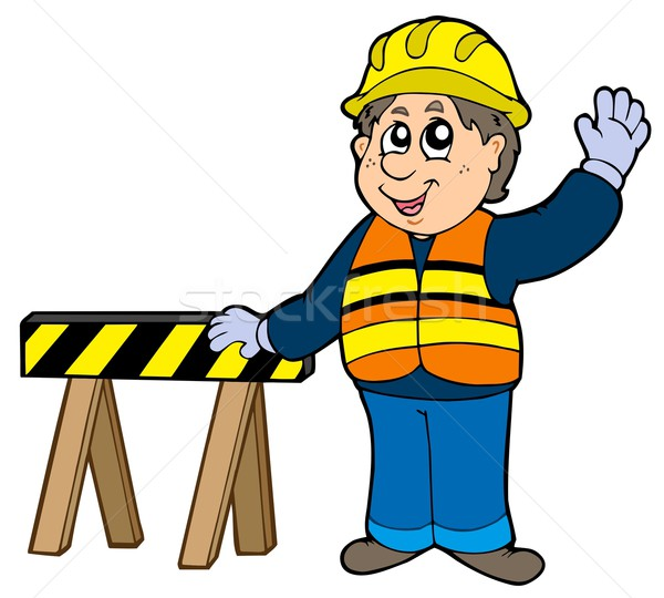 Cartoon construction worker Stock photo © clairev