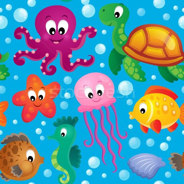 Seamless background sea theme 2 Stock photo © clairev