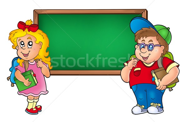 Children with chalkboard 1 Stock photo © clairev