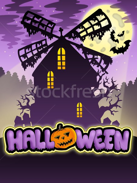Mysterious Halloween mill 2 Stock photo © clairev