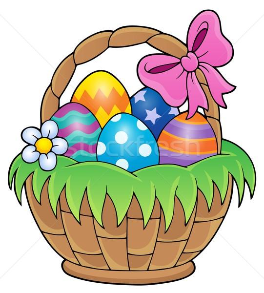 Easter basket theme image 1 Stock photo © clairev