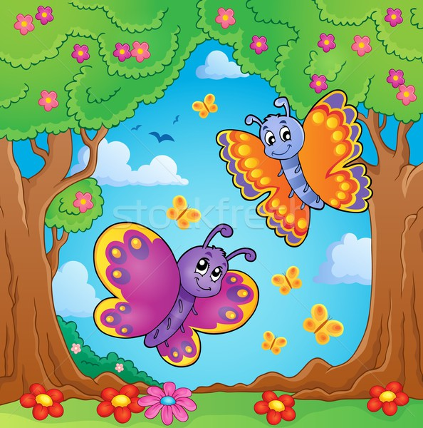 Happy butterflies theme image 8 Stock photo © clairev
