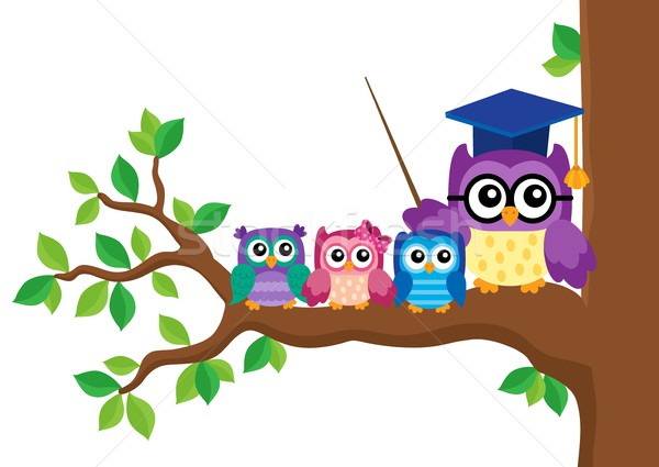 Stylized school owl theme image 5 Stock photo © clairev